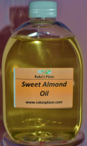 A picture of Ruka's Place Bottle of Sweet Almond Oil