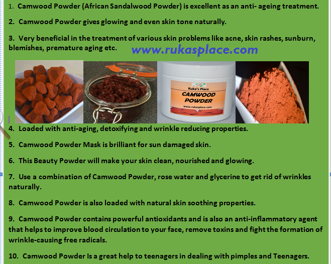A Picture of The Many Benefits & Uses of CAMWOOD POWDER
