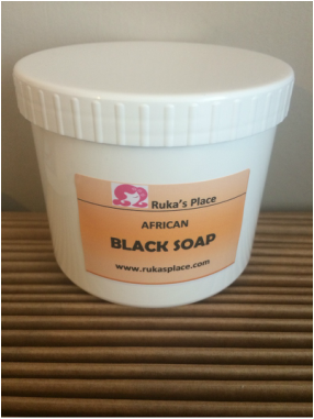 A Picture of African Black Soap
